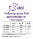 Prijslijst Abel geboortekaartjes